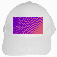 Original Resolution Wave Waves Chevron Pink Purple White Cap by Mariart