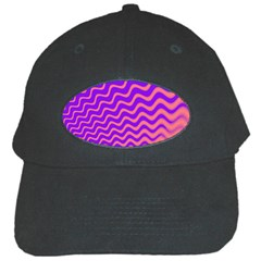 Original Resolution Wave Waves Chevron Pink Purple Black Cap by Mariart