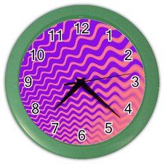 Original Resolution Wave Waves Chevron Pink Purple Color Wall Clocks by Mariart