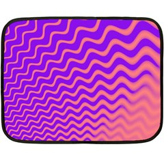 Original Resolution Wave Waves Chevron Pink Purple Double Sided Fleece Blanket (mini)  by Mariart