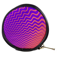 Original Resolution Wave Waves Chevron Pink Purple Mini Makeup Bags by Mariart