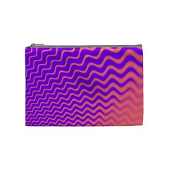 Original Resolution Wave Waves Chevron Pink Purple Cosmetic Bag (medium)  by Mariart