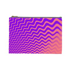 Original Resolution Wave Waves Chevron Pink Purple Cosmetic Bag (large)  by Mariart