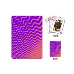 Original Resolution Wave Waves Chevron Pink Purple Playing Cards (mini)  by Mariart