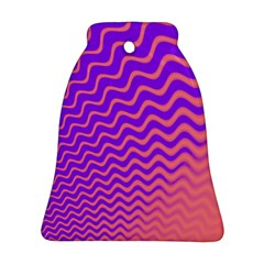 Original Resolution Wave Waves Chevron Pink Purple Ornament (bell) by Mariart
