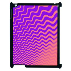Original Resolution Wave Waves Chevron Pink Purple Apple Ipad 2 Case (black) by Mariart