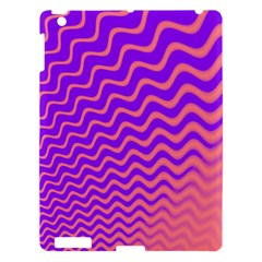 Original Resolution Wave Waves Chevron Pink Purple Apple Ipad 3/4 Hardshell Case by Mariart