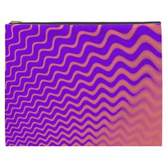 Original Resolution Wave Waves Chevron Pink Purple Cosmetic Bag (xxxl)  by Mariart