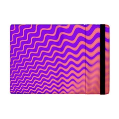 Original Resolution Wave Waves Chevron Pink Purple Apple Ipad Mini Flip Case by Mariart