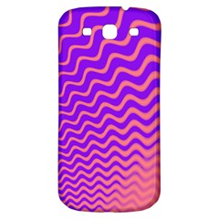 Original Resolution Wave Waves Chevron Pink Purple Samsung Galaxy S3 S Iii Classic Hardshell Back Case by Mariart