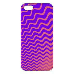 Original Resolution Wave Waves Chevron Pink Purple Apple Iphone 5 Premium Hardshell Case by Mariart