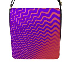 Original Resolution Wave Waves Chevron Pink Purple Flap Messenger Bag (l)  by Mariart