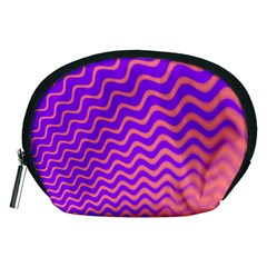 Original Resolution Wave Waves Chevron Pink Purple Accessory Pouches (medium)  by Mariart