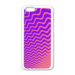 Original Resolution Wave Waves Chevron Pink Purple Apple Iphone 6/6s White Enamel Case by Mariart