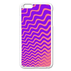 Original Resolution Wave Waves Chevron Pink Purple Apple Iphone 6 Plus/6s Plus Enamel White Case by Mariart