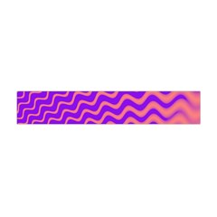 Original Resolution Wave Waves Chevron Pink Purple Flano Scarf (mini) by Mariart