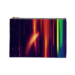 Perfection Graphic Colorful Lines Cosmetic Bag (large)  by Mariart