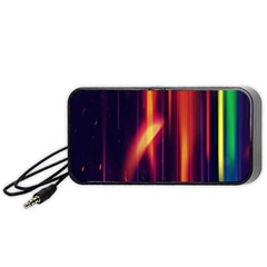 Perfection Graphic Colorful Lines Portable Speaker (black) by Mariart