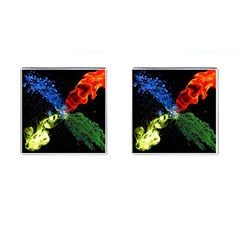 Perfect Amoled Screens Fire Water Leaf Sun Cufflinks (square) by Mariart