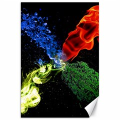 Perfect Amoled Screens Fire Water Leaf Sun Canvas 20  X 30