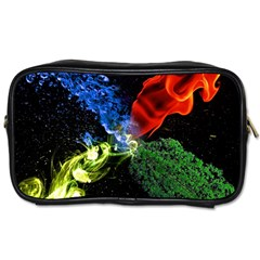 Perfect Amoled Screens Fire Water Leaf Sun Toiletries Bags 2 Side