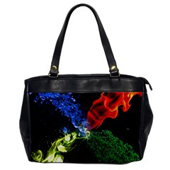 Perfect Amoled Screens Fire Water Leaf Sun Office Handbags by Mariart