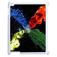 Perfect Amoled Screens Fire Water Leaf Sun Apple Ipad 2 Case (white) by Mariart