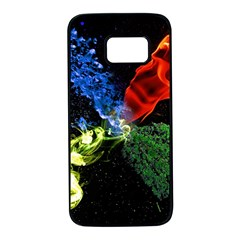 Perfect Amoled Screens Fire Water Leaf Sun Samsung Galaxy S7 Black Seamless Case by Mariart