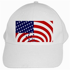 Star Line Hole Red Blue White Cap by Mariart