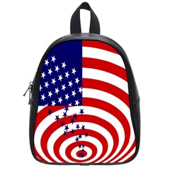 Star Line Hole Red Blue School Bags (small)  by Mariart