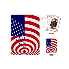 Star Line Hole Red Blue Playing Cards (mini)  by Mariart