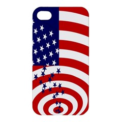 Star Line Hole Red Blue Apple Iphone 4/4s Hardshell Case by Mariart