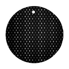 Rabstol Net Black White Space Light Ornament (round) by Mariart