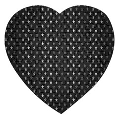 Rabstol Net Black White Space Light Jigsaw Puzzle (heart) by Mariart