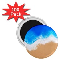 Sand Beach Water Sea Blue Brown Waves Wave 1 75  Magnets (100 Pack)