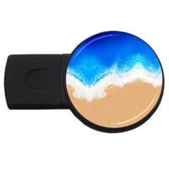 Sand Beach Water Sea Blue Brown Waves Wave Usb Flash Drive Round (2 Gb) by Mariart