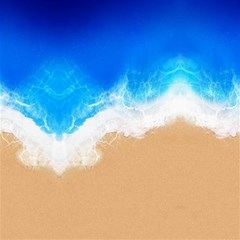 Sand Beach Water Sea Blue Brown Waves Wave Canvas 16  X 16   by Mariart