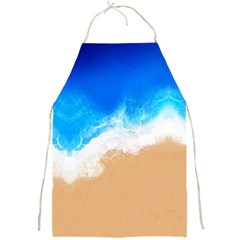 Sand Beach Water Sea Blue Brown Waves Wave Full Print Aprons by Mariart