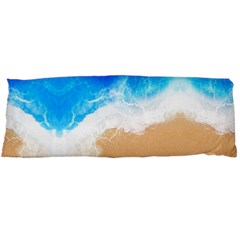 Sand Beach Water Sea Blue Brown Waves Wave Body Pillow Case Dakimakura (two Sides) by Mariart