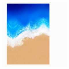 Sand Beach Water Sea Blue Brown Waves Wave Large Garden Flag (two Sides) by Mariart