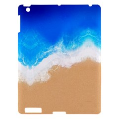 Sand Beach Water Sea Blue Brown Waves Wave Apple Ipad 3/4 Hardshell Case by Mariart