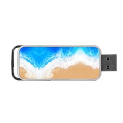 Sand Beach Water Sea Blue Brown Waves Wave Portable Usb Flash (two Sides) by Mariart