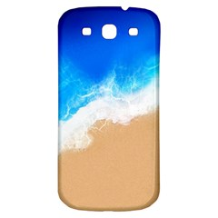 Sand Beach Water Sea Blue Brown Waves Wave Samsung Galaxy S3 S Iii Classic Hardshell Back Case by Mariart