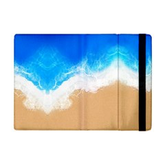 Sand Beach Water Sea Blue Brown Waves Wave Ipad Mini 2 Flip Cases by Mariart