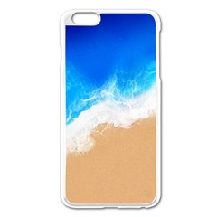 Sand Beach Water Sea Blue Brown Waves Wave Apple Iphone 6 Plus/6s Plus Enamel White Case