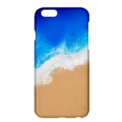 Sand Beach Water Sea Blue Brown Waves Wave Apple Iphone 6 Plus/6s Plus Hardshell Case by Mariart