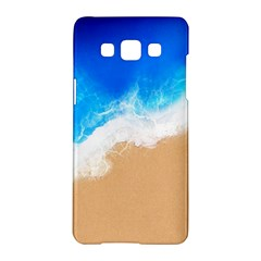 Sand Beach Water Sea Blue Brown Waves Wave Samsung Galaxy A5 Hardshell Case  by Mariart