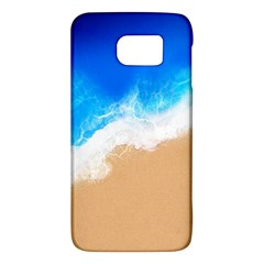 Sand Beach Water Sea Blue Brown Waves Wave Galaxy S6 by Mariart