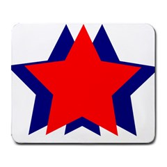 Stars Red Blue Large Mousepads by Mariart