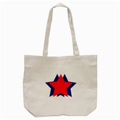 Stars Red Blue Tote Bag (cream) by Mariart